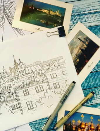 Celebrate Moscow with your drawings